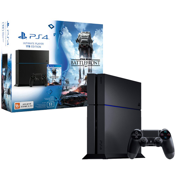 PlayStation 4, Игровая консоль, 1TB+игра Star Wars Battlefront