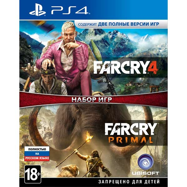 Видеоигра для PS4 . Far Cry 4+Far Cry Primal far
