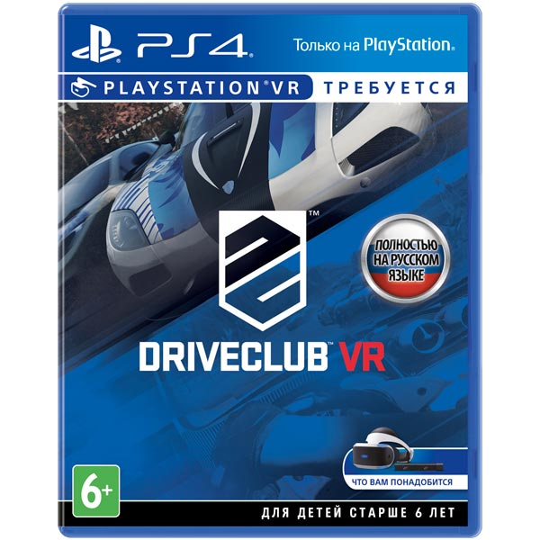 Видеоигра для PS4 . Driveclub VR (только для VR) playstation vr worlds только для vr [ps4]