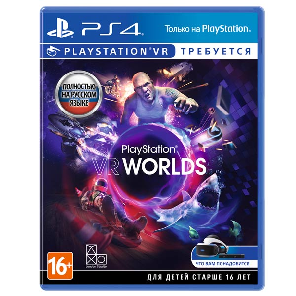 Видеоигра для PS4 . VR Worlds (только для VR) playstation vr worlds только для vr [ps4]