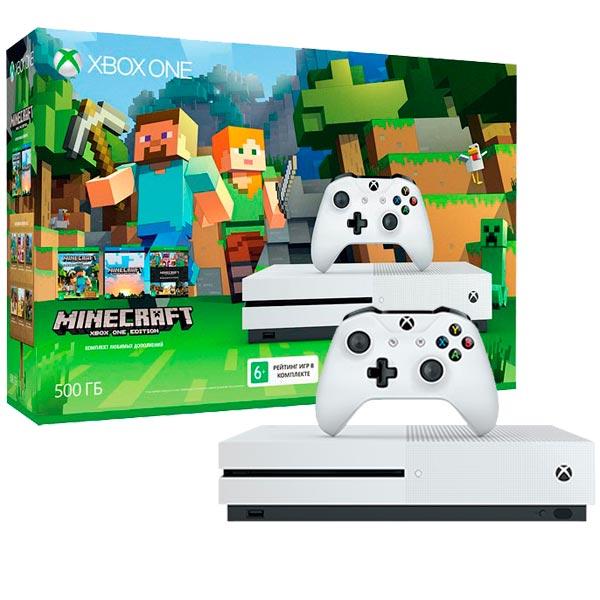 Игровая консоль Xbox One Microsoft Xbox One S 500 Gb + Minecraft (ZQ9-00048) аксессуары для игровых приставок microsoft жесткий диск microsoft 500 гб
