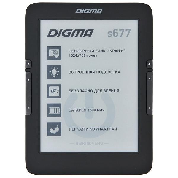 Digma, Электронная книга, S677 Black