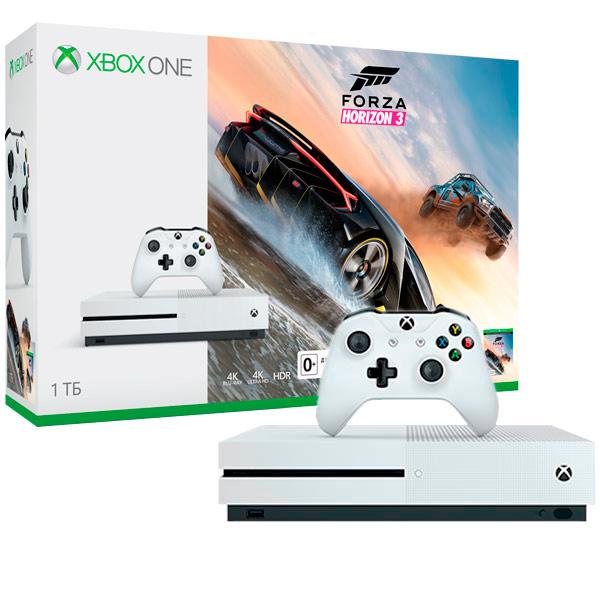 все цены на  Игровая консоль Xbox One Microsoft Xbox One S 1Tb+Forza Horizon 3 (234-00115-1)  онлайн
