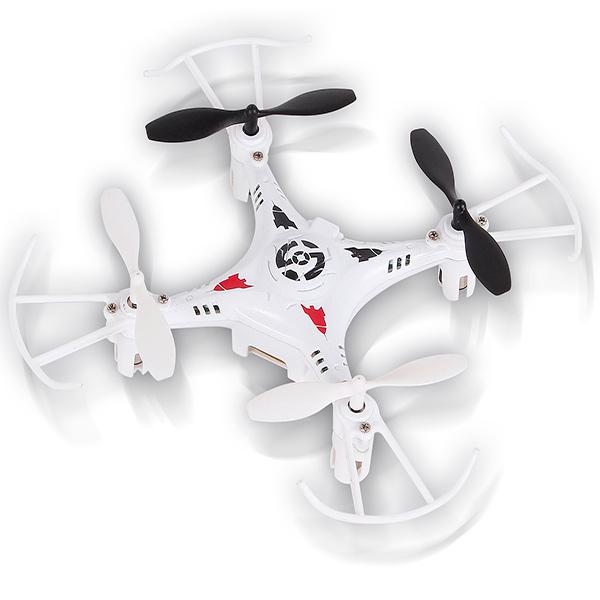 Радиоуправляемый квадрокоптер Mioshi 3D Мини-дрон-11, 11 см, белый (MTE1209-022)