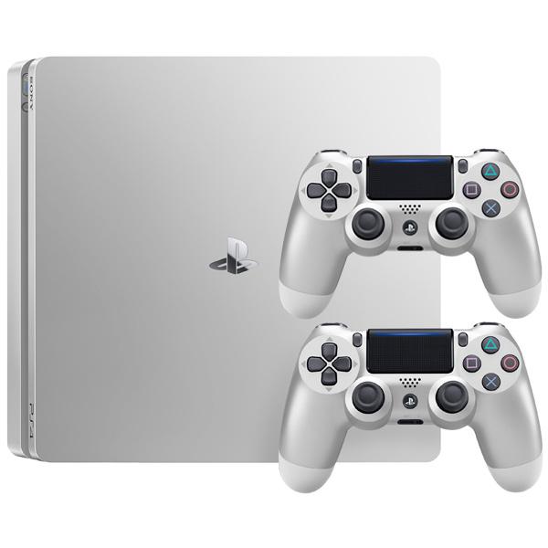все цены на  Игровая консоль PlayStation 4 500Gb серебристая с серебр.геймпадом DualShock 4  онлайн