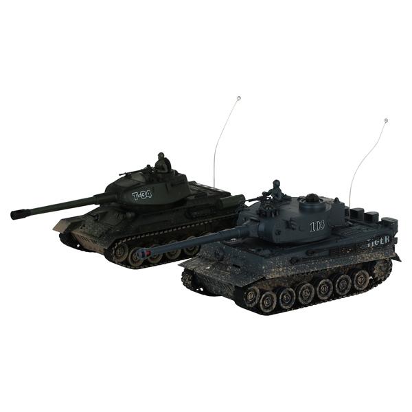 Радиоуправляемый танк Pilotage 1:24 T34 vs Tiger, color 2 (RC18388) pilotage leopard ii a6 nato 3 1 24 27mhz rc8129