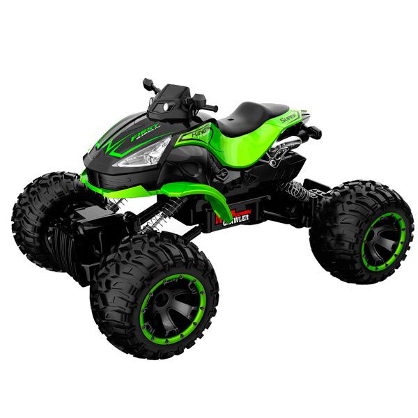 Радиоуправляемая машина Blue Sea квадроцикл Rock crawler, 1:14, 4WD зеленый