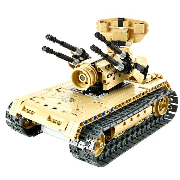 Радиоуправляемая модель-конструктор QiHui Anti-aircraft tank, 457 эл.