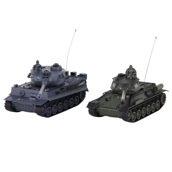 Радиоуправляемый танк Pilotage T34 vs Tiger 1:24 (RC18382) pilotage leopard ii a6 nato 3 1 24 27mhz rc8129