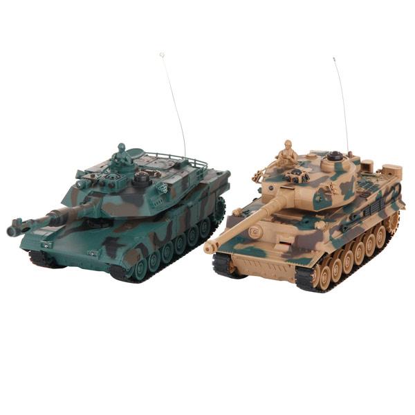 Радиоуправляемый танк Pilotage Tiger vs M1A2 1:24 (RC18387) pilotage leopard ii a6 nato 3 1 24 27mhz rc8129