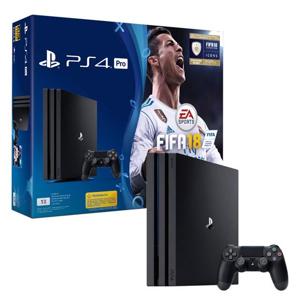 Игровая консоль PlayStation 4 Pro 1Tb + FIFA 18 + PS Plus 14 дней (CUH-7008B) sony playstation 4 pro 1tb cuh 7008b
