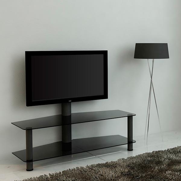 Стойка универсал. для ЖК и плазменных ТВ MetalDesign 525-1 (черн-дымч)