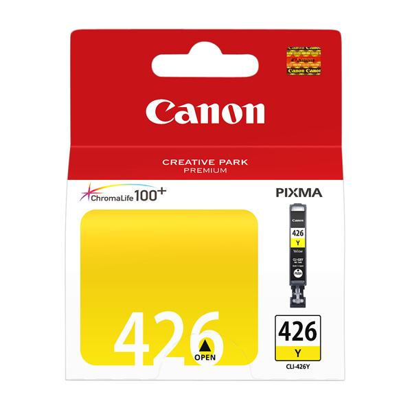 Картридж для струйного принтера CanonКартриджи для струйных принтеров<br>Номер картриджа: 426,<br>Объем цветных чернил: 9 мл,<br>Картриджей в комплекте: 1,<br>Серия: ChromaLife 100+,<br>Ресурс цветного картриджа (A4): 450 стр,<br>Цвет чернил: желтый,<br>Цветной картридж: Да<br>