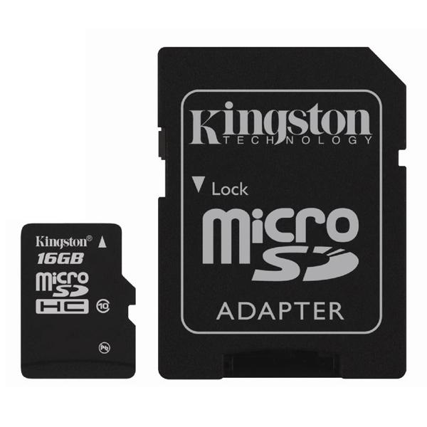 Карта памяти SDHC Micro KingstonКарты памяти MicroSDHC<br>Класс: 10,<br>Цвет: черный,<br>Макс. скорость передачи данных: 10 МБ/сек,<br>Объем карты памяти: 16 ГБ,<br>Гарантия: 10 лет,<br>Назначение: проф. фото/видео Full HD,<br>Вид гарантии: по чеку,<br>Тип карты памяти: microSDHC,<br>Краткое описание: microSDHC;16 ГБ;10 МБ/сек,<br>Страна: Тайвань<br>