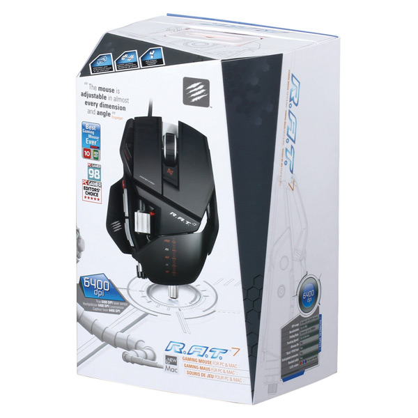 Mad catz rat7 gaming mouse for pc and mac