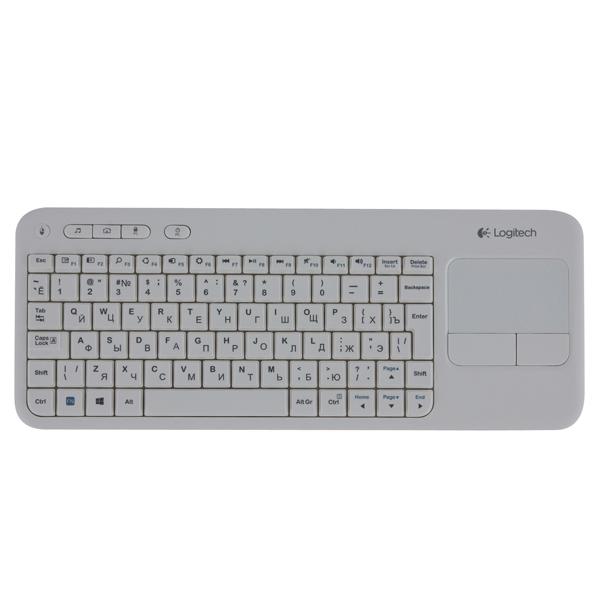Клавиатура для SmartTV Logitech Wireless Touch K400 White (920-005931)