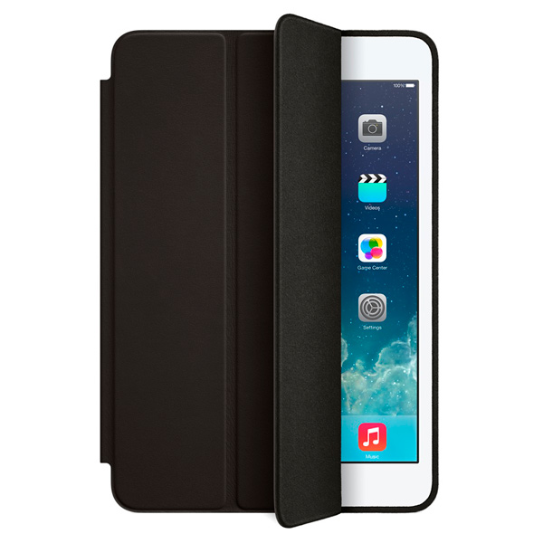 Кейс для iPad mini AppleКейсы для iPad mini<br>Вес: 210 г,<br>Отв. для кнопок управления: Да,<br>Страна: КНР,<br>Магниты AutoWake: Да,<br>Кнопки управления: Да,<br>Серия: Smart Case,<br>Кейс д/пл. комп.: iPad mini&#13;<br>,<br>Отверстие для подзарядки: Да,<br>Материал корпуса: анилиновая кожа/микрофибра,<br>Базовый цвет: черный,<br>Отв. для встр. камеры: Да,<br>Тип застежки: магнит,<br>Количество отделений: 1,<br>Цвет: черный,<br>Настольная подставка: встроенная,<br>Для моделей с диаг. экрана: 7.9,<br>Вид гарантии: по чеку<br><br>Вес г: 210<br>Цвет : черный