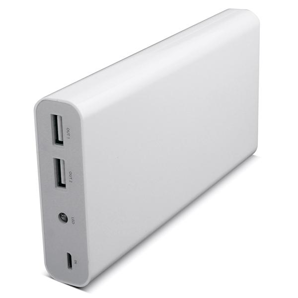Внешний аккумулятор iconBITВнешние аккумуляторы<br>Индикатор уровня зарядки: Да,<br>Порт microUSB 2.0: 1,<br>Емкость аккумулятора: 20800 мАч,<br>Встроенный фонарик: Да,<br>Настольное размещение: Да,<br>Зарядка от USB порта: Да,<br>Материал корпуса: пластик,<br>Порт USB 2.0 тип A: 2,<br>Конструкция аккумулятора: встроенный,<br>Габаритные размеры (В*Ш*Г): 80*22.5*165 мм,<br>Тип лампы: светодиод,<br>Тип аккумулятора: Li-Ion,<br>Индикация включения: Да,<br>Рабочее напряжение: 5.0 В,<br>Базовый цвет: белый,<br>Цвет: белый/серебр.,<br>Максимальная нагрузка: 2100 мА,<br>Гарантия: 1 год<br>