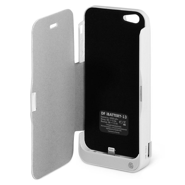 DF для Apple iPhone 5/5S iBattery-13 White