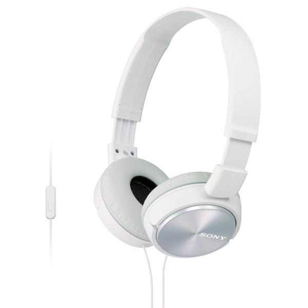 Наушники накладные SonyНаушники накладные<br>Управление воспроизведением: Да,<br>Материал оголовника: пластик,<br>Исп. в качестве гарнитуры: Да,<br>Тип подключения: проводной,<br>Длина кабеля: 1.2 м,<br>Количество клавиш: 1,<br>Встроенный микрофон: 1,<br>Кабель аудио 3.5 мм - 3.5 мм: в комплекте,<br>Чувствительность: 98 дБ,<br>Страна: КНР,<br>Частотный диапазон: 10 Гц - 24 кГц,<br>Сопротивление: 24 Ом,<br>Вес: 125 г,<br>Материал корпуса: пластик,<br>Цвет: белый,<br>Система шумоподавления: пассивная,<br>Акустический тип: закрытый,<br>Серия: ZX,<br>Штекер 3.5 мм: 1,<br>Поворотные чашки: Да<br><br>Вес г: 125<br>Цвет : белый