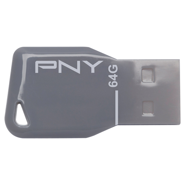 Флэш диск PNY KEY ATTACHE GREY 64GB