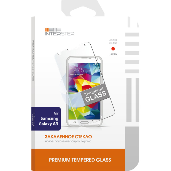 InterStep Для Samsung A3 0,3мм(IS-TG-SAMGALXA3-000B201)