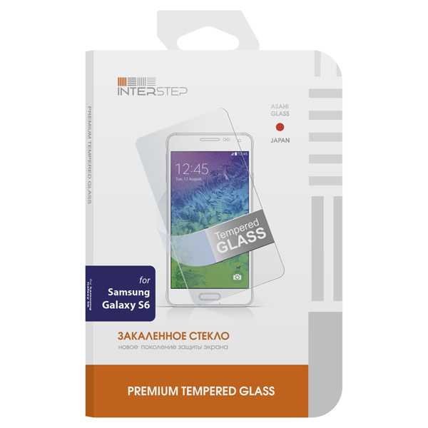 Защитное стекло InterStep для Samsung Galaxy S6 (IS-TG-SAMGALXS6-000B201) liberty project чехол флип для lenovo a390 black