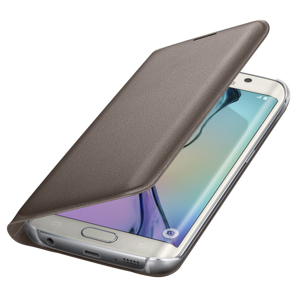 Samsung Flip Wallet S6 Edge Gold PU (EF-WG925PFEGRU)