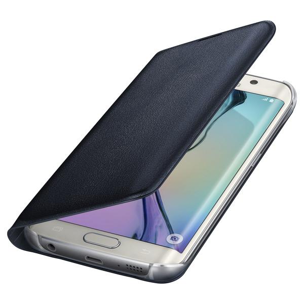 Samsung Flip Wallet S6 Edge Black PU (EF-WG925PBEGRU)