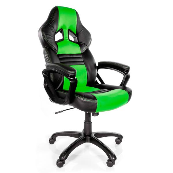 Кресло компьютерное игровое Arozzi Monza Green