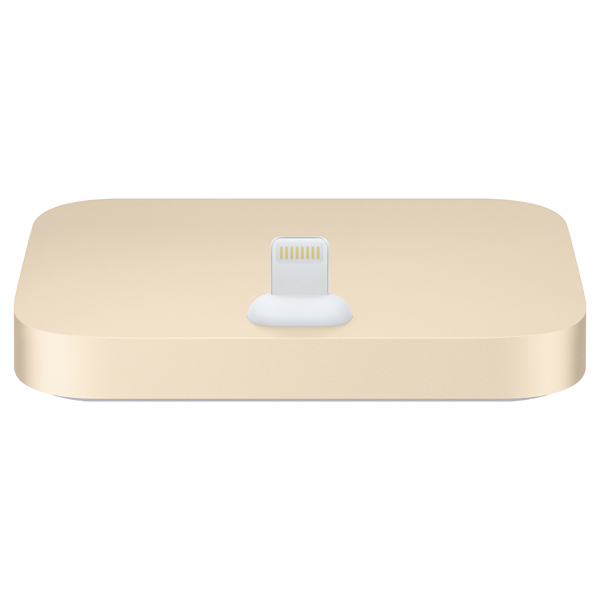 Док-станция для телефона Apple iPhone Lightning Dock Gold док станция apple для iphone 5c белый