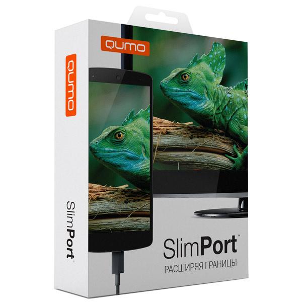 Купить Кабель MHL (MicroUSB - HDMI) Qumo SlimPort Kit недорого
