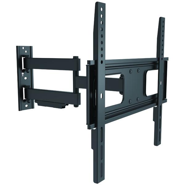 Кронштейн для ТВ наклонно-поворотный ResonansКронштейны для телевизоров наклонно-поворотные<br>Максимальная нагрузка: 50 кг,<br>Вид гарантии: по чеку,<br>Страна: КНР,<br>Цвет: черный,<br>Тип подвеса: настенный,<br>Материал корпуса: металл,<br>Глубина до стены: 60 - 473 мм,<br>Тип крепления к подвесу: VESA 200/300/400/400x200,<br>Диап. регулировки по горизонт.: +/- 90*,<br>Диап. регулировки наклона: +10/-20 см,<br>Для моделей с диаг. экрана: 23 - 55,<br>Гарантия: 1 год<br>