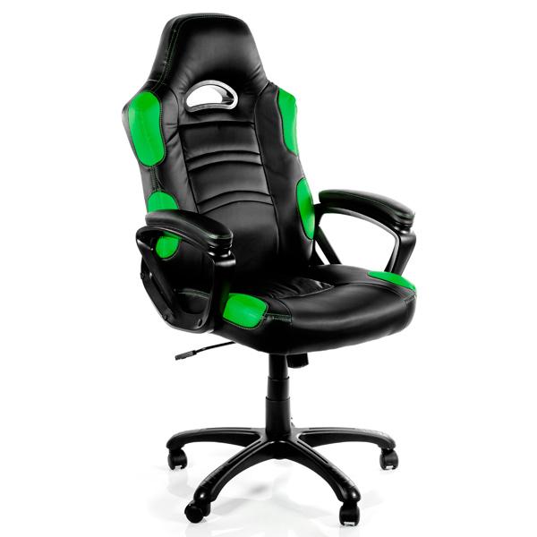 Кресло компьютерное игровое Arozzi Enzo Green
