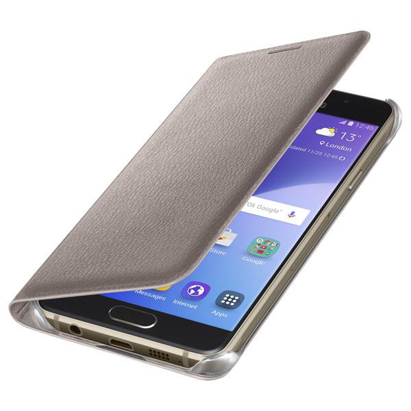 Чехол для сотового телефона Samsung Flip Wallet A3 2016 Gold (EF-WA310PFEGRU) samsung flip wallet s6 edge gold pu ef wg925pfegru