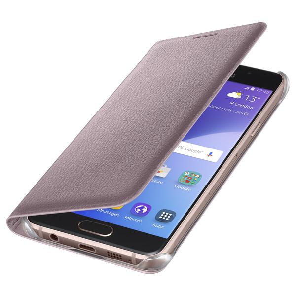 Чехол для сотового телефона Samsung Flip Wallet A3 2016 Pink Gold (EF-WA310PZEGRU) чехол samsung ef wa310pzegru для samsung galaxy a3 2016 flip wallet розовый