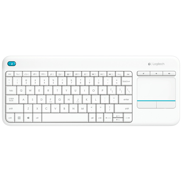 Клавиатура для SmartTV Logitech Wireless Touch K400 Plus White (920-007148)