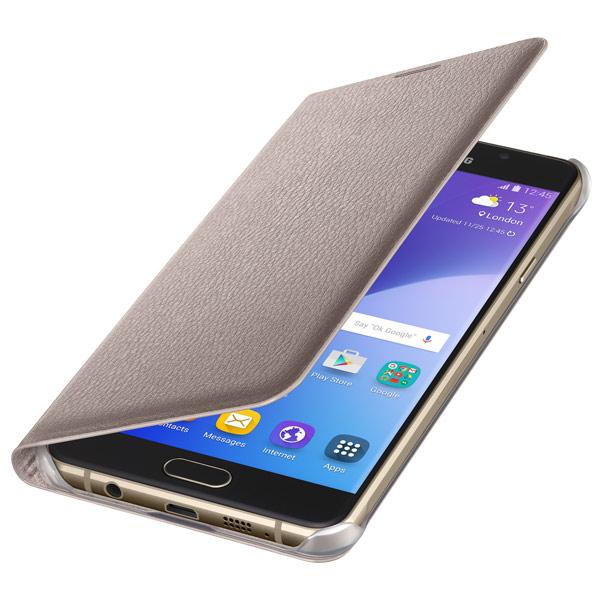 Чехол для сотового телефона Samsung Flip Wallet A7 2016 Gold (EF-WA710PFEGRU) samsung flip wallet s6 edge gold pu ef wg925pfegru