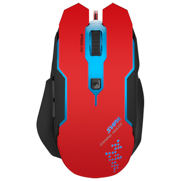 Игровая мышь SPEEDLINK SVIPA Red/Black (SL-680000-BKRD)