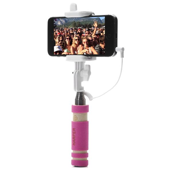 Монопод для смартфона HarperМонопод для смартфона<br>Совместимость: Android, iOS,<br>Материал корпуса: металл,<br>Вес: 81 г,<br>Вид гарантии: гарантийный талон,<br>Максимальная ширина устройства: до 75 мм,<br>Цвет: фиолетовый,<br>Максимальная длина монопода: 610 мм,<br>Максимальная нагрузка: до 500 г,<br>Кнопка: 3.5 мм встроенная,<br>Страна: КНР,<br>Минимальная длина монопода: 135 мм<br><br>Вес г: 81<br>Цвет : фиолетовый