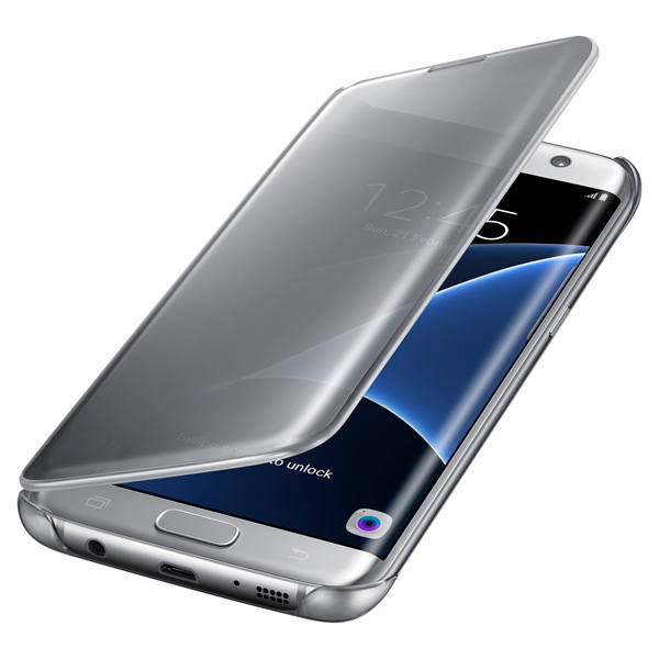Samsung Clear View Cover S7 Edge Silver (EF-ZG935CSEGRU) аксессуар чехол samsung galaxy a3 2017 cojess tpu 0 3mm transparent