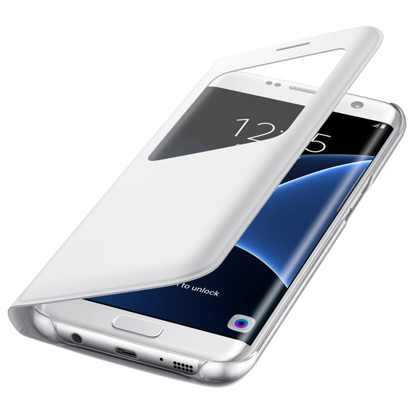 Чехол для сотового телефона Samsung S View Cover S7 Edge White (EF-CG935PWEGRU) samsung s view cover a5 white ef ca500bwegru