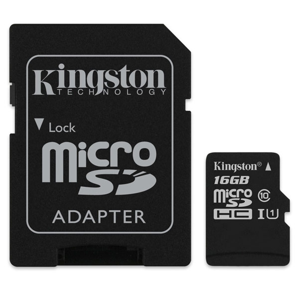 Карта памяти SDHC Micro Kingston SDC10G2/16GB карты памяти