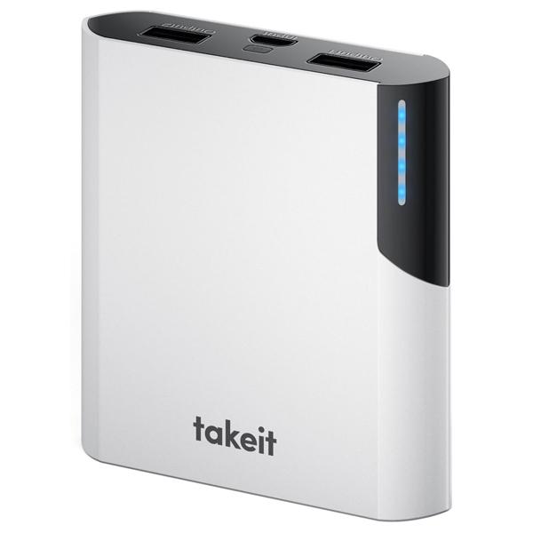 Внешний аккумулятор Takeit Rock 10400 White (TKTBROCK10400WHI) 10400 mAh