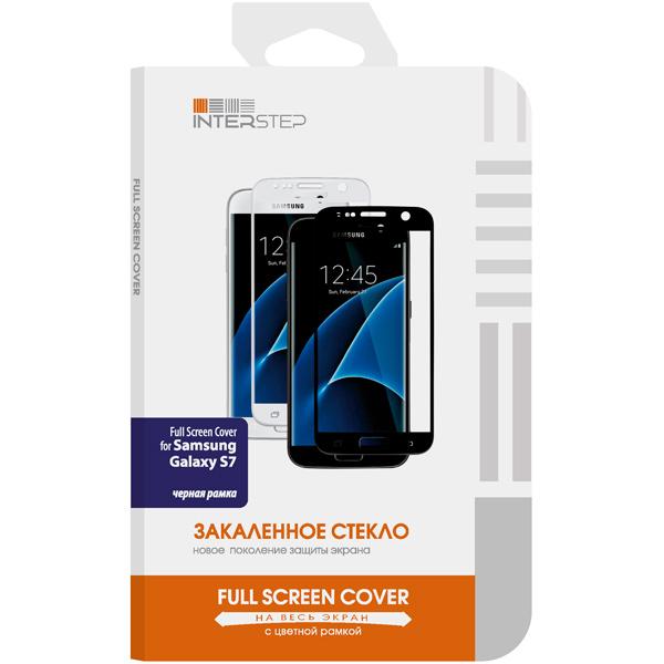 Защитное стекло InterStep для Galaxy S7 Black (IS-TG-SAMGS7FSB-000B201)