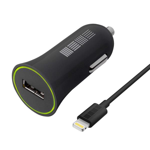 Автомобильное зарядное устройство для Apple InterStep 12-24В, 1000мА, черный (IS-CC-1USBIPH5B-000B201)