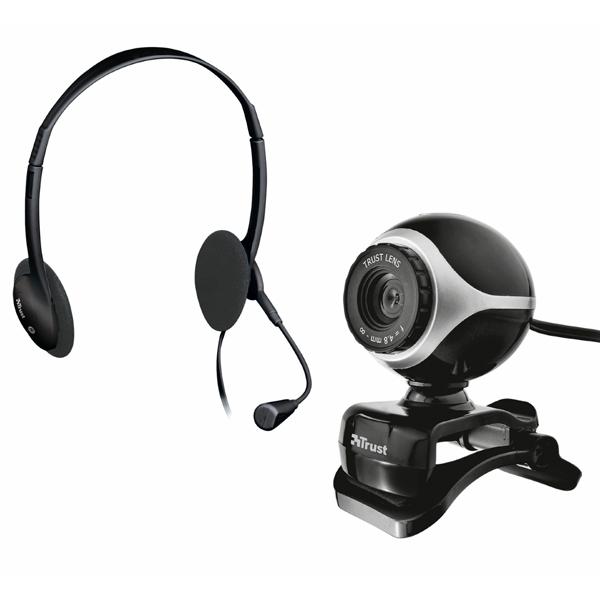 Web-камера Trust Exis Chatpack Black + наушники (17028)