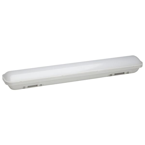 Светильник LED ЭРАСветильники LED<br>Потребляемая мощность: 20 Вт,<br>Подключение к сети 220 В: через клеммник,<br>Габаритные размеры (В*Ш*Г): 66*590*86 мм,<br>Тип размещения: внешний,<br>Степень защиты: IP65,<br>Рабочее напряжение: 170-260 В,<br>Установка: настенно-потолочная,<br>Вес: 0.68 кг,<br>Вид гарантии: по чеку,<br>Страна: КНР,<br>Гарантия: 2 года,<br>Цвет: белый,<br>Температура цвета: холодный белый (6500K),<br>Материал корпуса: пластик,<br>Тип лампы: светодиод,<br>Световой поток: 1600 Lm<br>