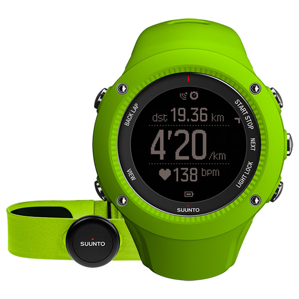 Спортивные часы Suunto Ambit3 Run Lime (HR) (SS021261000)