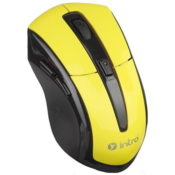 Мышь беспроводная Intro MW207 Black/Yellow
